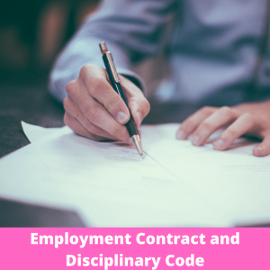 Employment Contract and Disciplinary Code Product pic