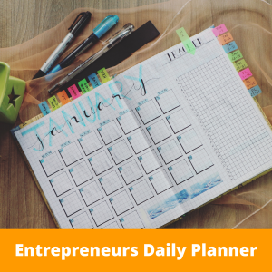 Entrepreneurs Daily Planner Product pic
